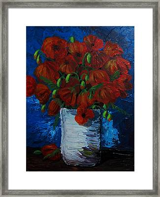 Poppies Framed Print by Anne Parker
