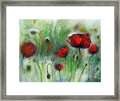 Poppies Framed Print by Arleana Holtzmann