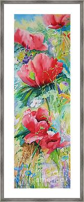 Poppies At Play Framed Print by John Nussbaum