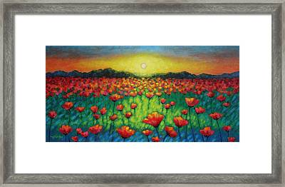 Poppies At Twilight Framed Print by John  Nolan