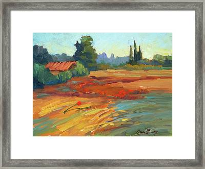 Poppies Bedoin Provence Framed Print by Diane McClary