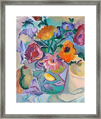 Poppies Framed Print by Brenda Ruark