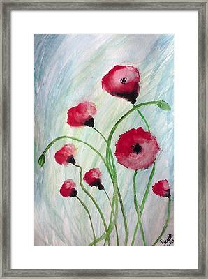 Framed Print featuring the painting Poppies by Carol Duarte