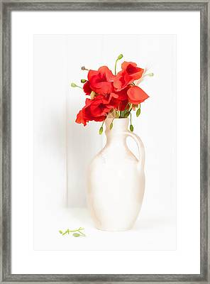 Poppies Framed Print by Amanda Elwell