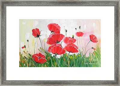 Poppies Framed Print by Denisa Laura Doltu
