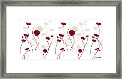 Poppies Di Framed Print