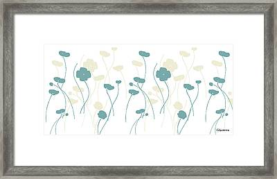Poppies Dii Framed Print by Carmen Guedez