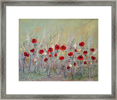 Framed Print featuring the painting Poppies by Dorothy Maier