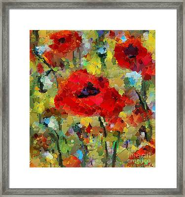 Poppies Framed Print by Dragica  Micki Fortuna