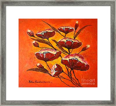 Poppies Framed Print by Elena  Constantinescu