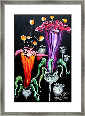 Poppies Fantasy.. Framed Print by Jolanta Anna Karolska