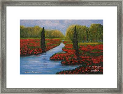 Poppies Guards Framed Print