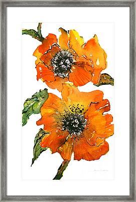 Poppies Framed Print by Gwen Nichols