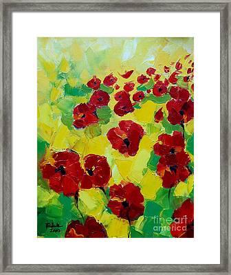 Poppies I Framed Print by Mona Edulesco