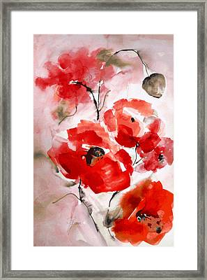 Poppies I Framed Print by Hedwig Pen