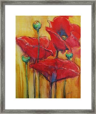 Poppies IIi Framed Print