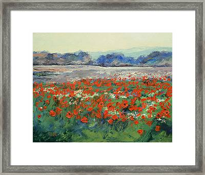 Poppies In Flanders Fields Framed Print by Michael Creese