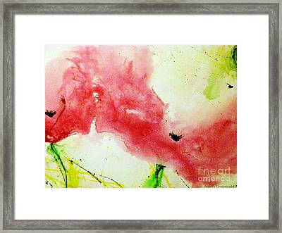 Poppies In Summer 2 - Flower Painting  Framed Print by Ismeta Gruenwald