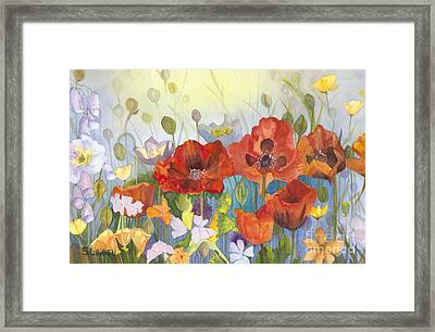 Poppies In The Light Framed Print