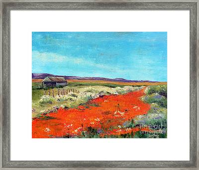 Poppies In The Meadow Framed Print