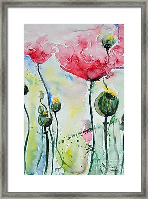 Poppies Framed Print by Ismeta Gruenwald
