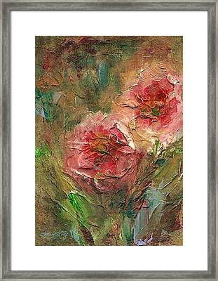 Poppies Framed Print by Mary Wolf