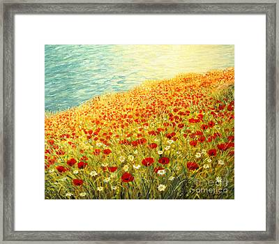Poppies Of Kaliakra II Framed Print by Kiril Stanchev