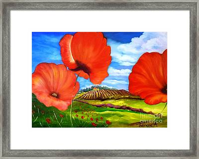 Poppies Of Provence Framed Print