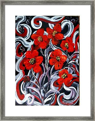 Poppies???? Framed Print