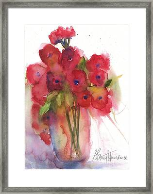 Poppies Framed Print by Sherry Harradence