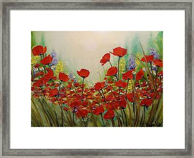 Poppies Framed Print by Svetla Dimitrova