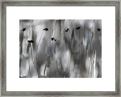 Poppies Upheaval Framed Print by Lourry Legarde