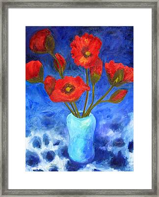 Poppies Framed Print by Valerie Lynch