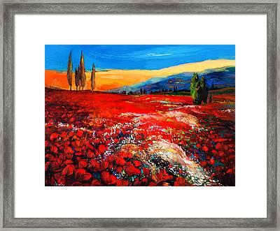Poppies'field Framed Print by Ivailo Nikolov