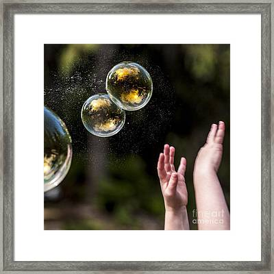 Poppin Bubbles Framed Print by Darcy Michaelchuk