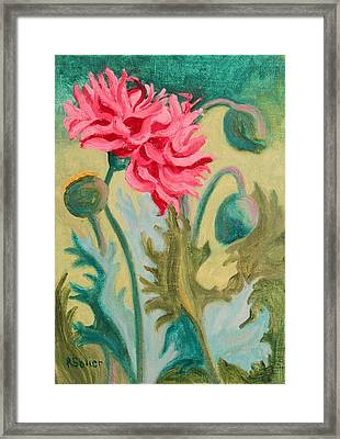 Poppy Abstract Framed Print
