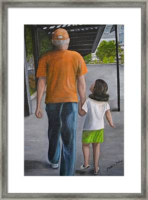 Framed Print featuring the painting Poppy And Me by Debbie Baker