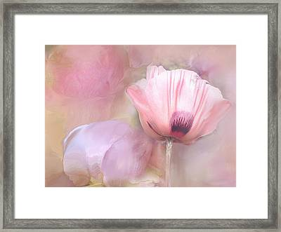 Poppy And Peony Framed Print