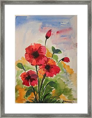 Poppy Blossom 2 Framed Print by Shakhenabat Kasana