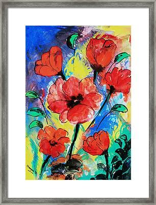Poppy Blossom Framed Print by Shakhenabat Kasana