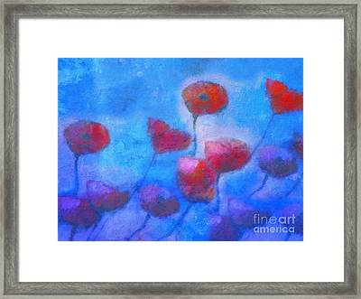 Poppy Blues Framed Print by Lutz Baar