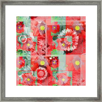 Poppy Collage Framed Print