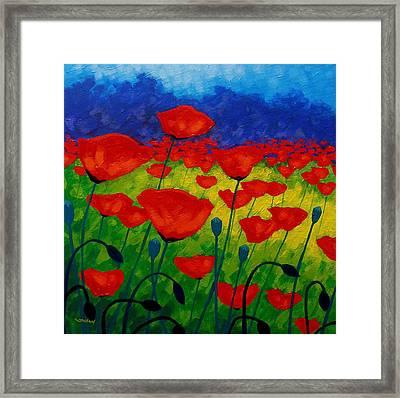 Poppy Corner II Framed Print