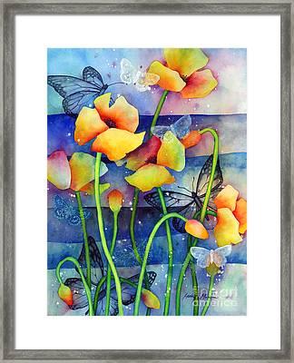 Poppy Field Framed Print by Hailey E Herrera