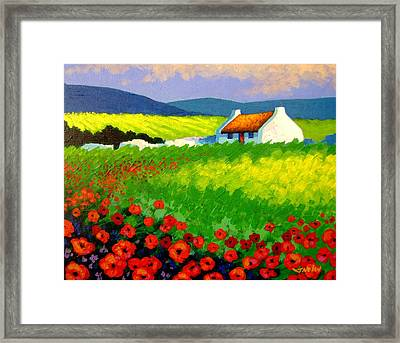 Poppy Field - Ireland Framed Print