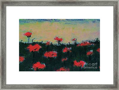 Framed Print featuring the painting Poppy Field by Jacqueline McReynolds