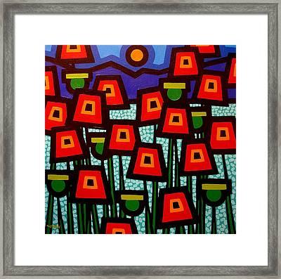 Poppy Field Framed Print by John  Nolan