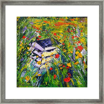 Poppy Field Oil Painting Framed Print