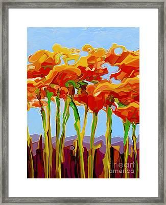 Poppy Flutter 1 Framed Print by Dorinda K Skains