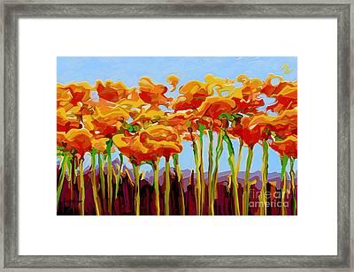 Poppy Flutter 2 Framed Print by Dorinda K Skains